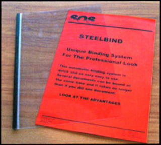 01mm Steel Covers - up to 10 pages